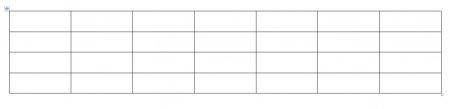 Как изменить размер таблицы, высоту строк и ширину столбцов?